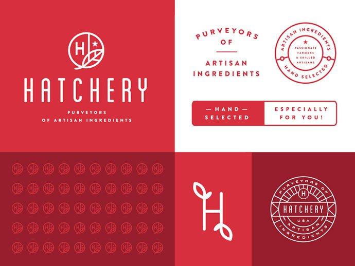 Hatchery-Branding-System-by-Steve-Wolf - 50+ Fantastic BEST FREE Typographic Logo Badge Designs
