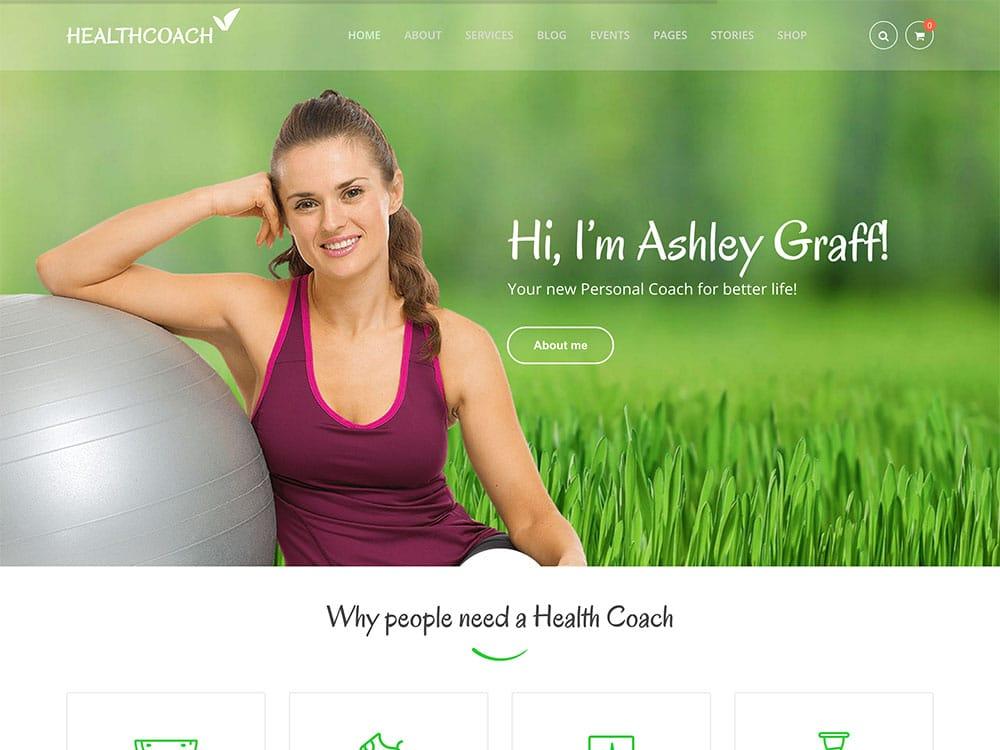 Health-Coach - 32+ Best WordPress Themes For Yoga [year]