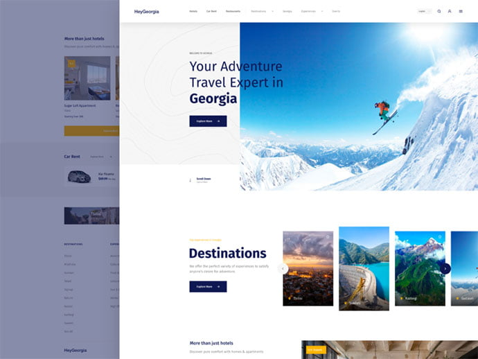Heygeorgia - 46+ Free Inspiration of Travel Web UI Designs [year]