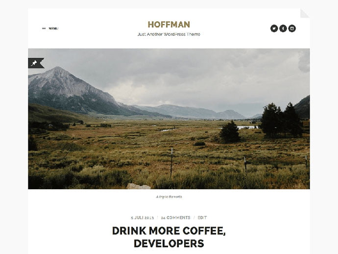 Hoffman - 61+ Free Creating Responsive WordPress Themes [year]