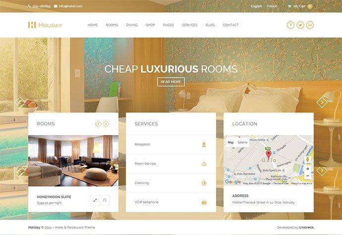 Holiday-1 - 30+ Amazing Resorts & Hotels WordPress Themes [year]