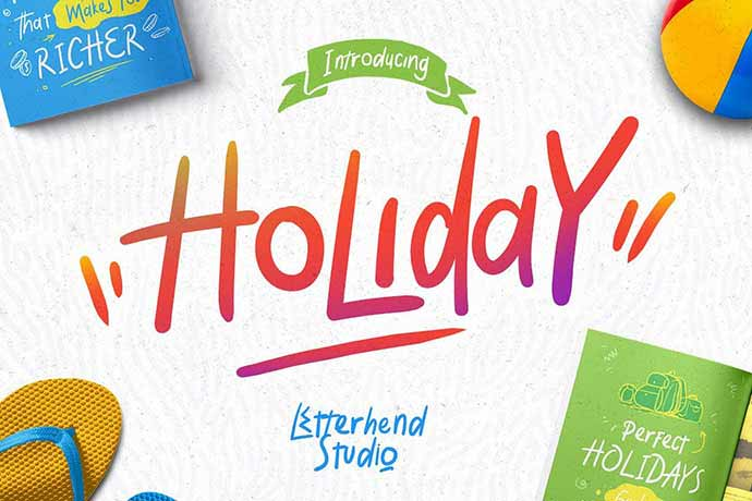 Holiday-Font - 51+ Stunning Travel Theme Designs Fonts For Your Website [year]