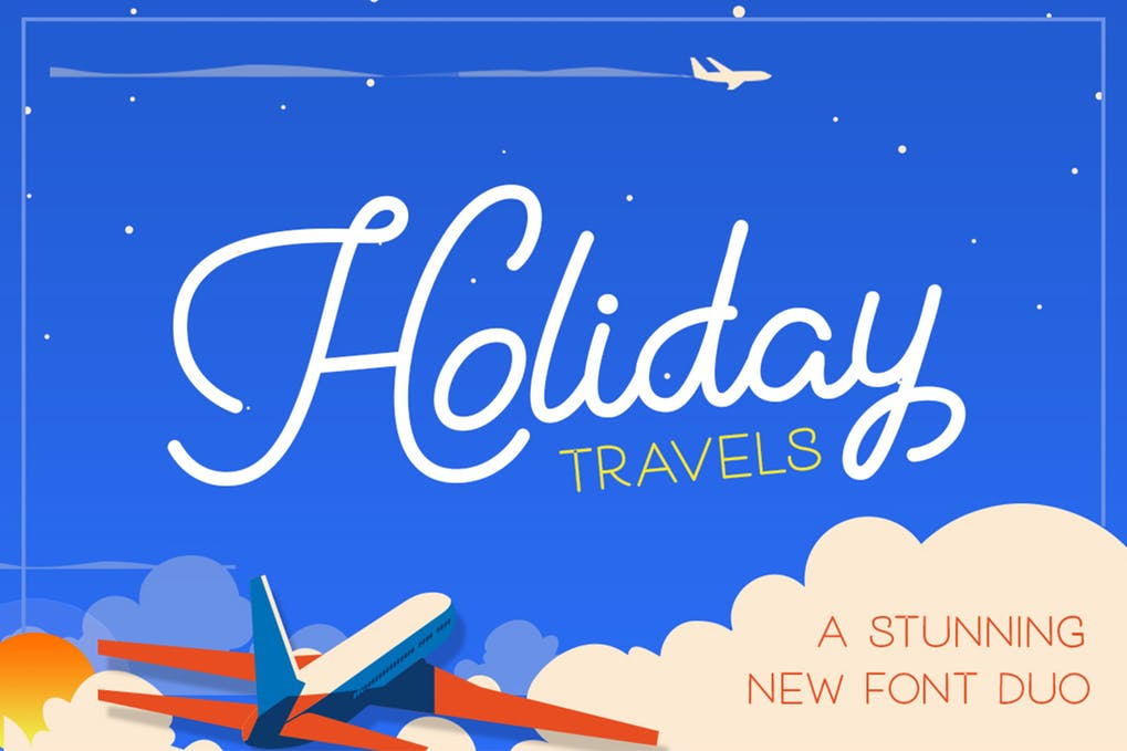 Holiday-Travel-Font-Duo - 51+ Stunning Travel Theme Designs Fonts For Your Website [year]