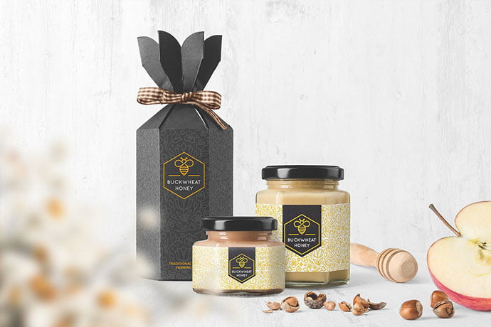 Honey-Jar - 60+ Delicious Food Packaging PSD Mockup Design Templates [year]