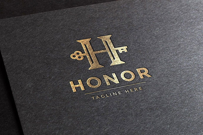 Honor-Letter-H-Logo-Template - 50+ BEST Single Letter Business Logo Template [year]
