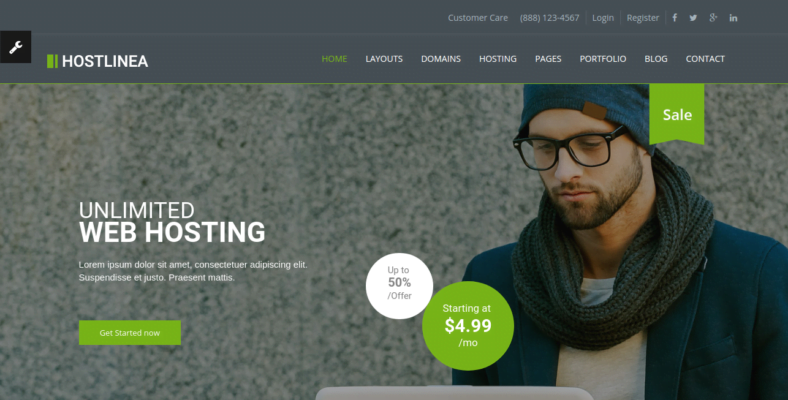 Hostlinea - 41+ Awesome Responsive HTML5 Web Templates [year]