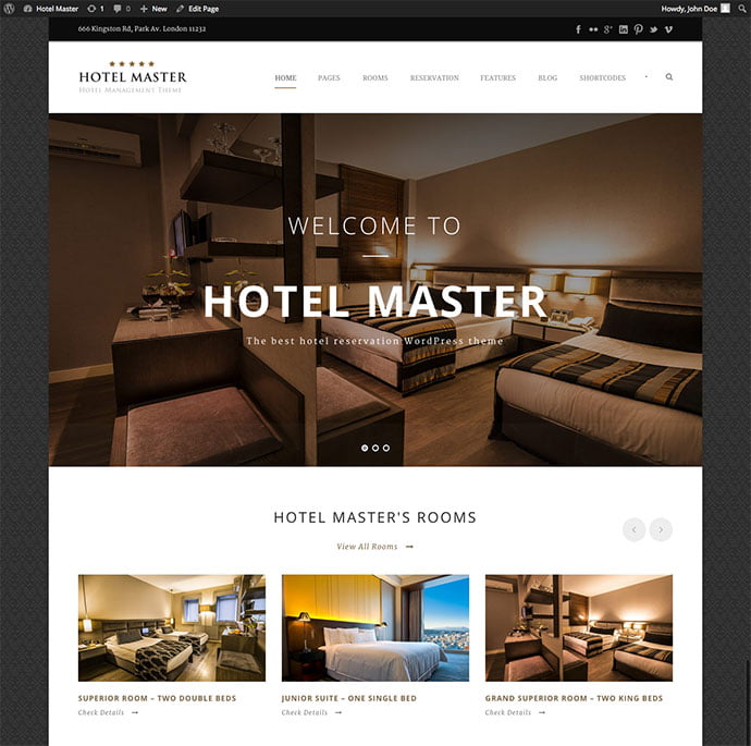 Hotel-Master - 30+ Amazing Resorts & Hotels WordPress Themes [year]