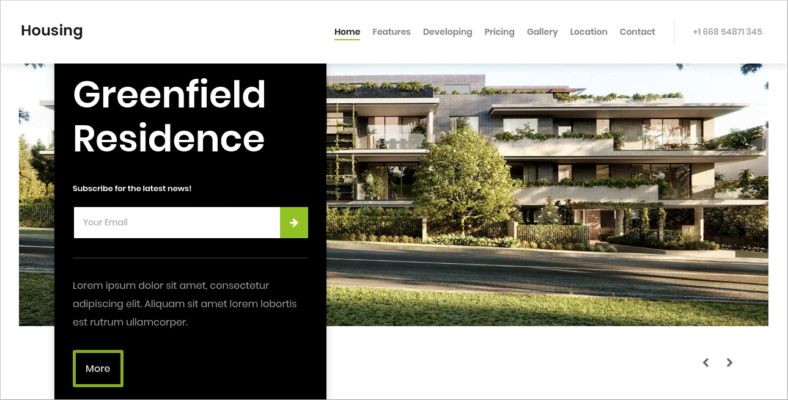 Housing - 41+ Awesome Parallax Landing Page Themes [year]