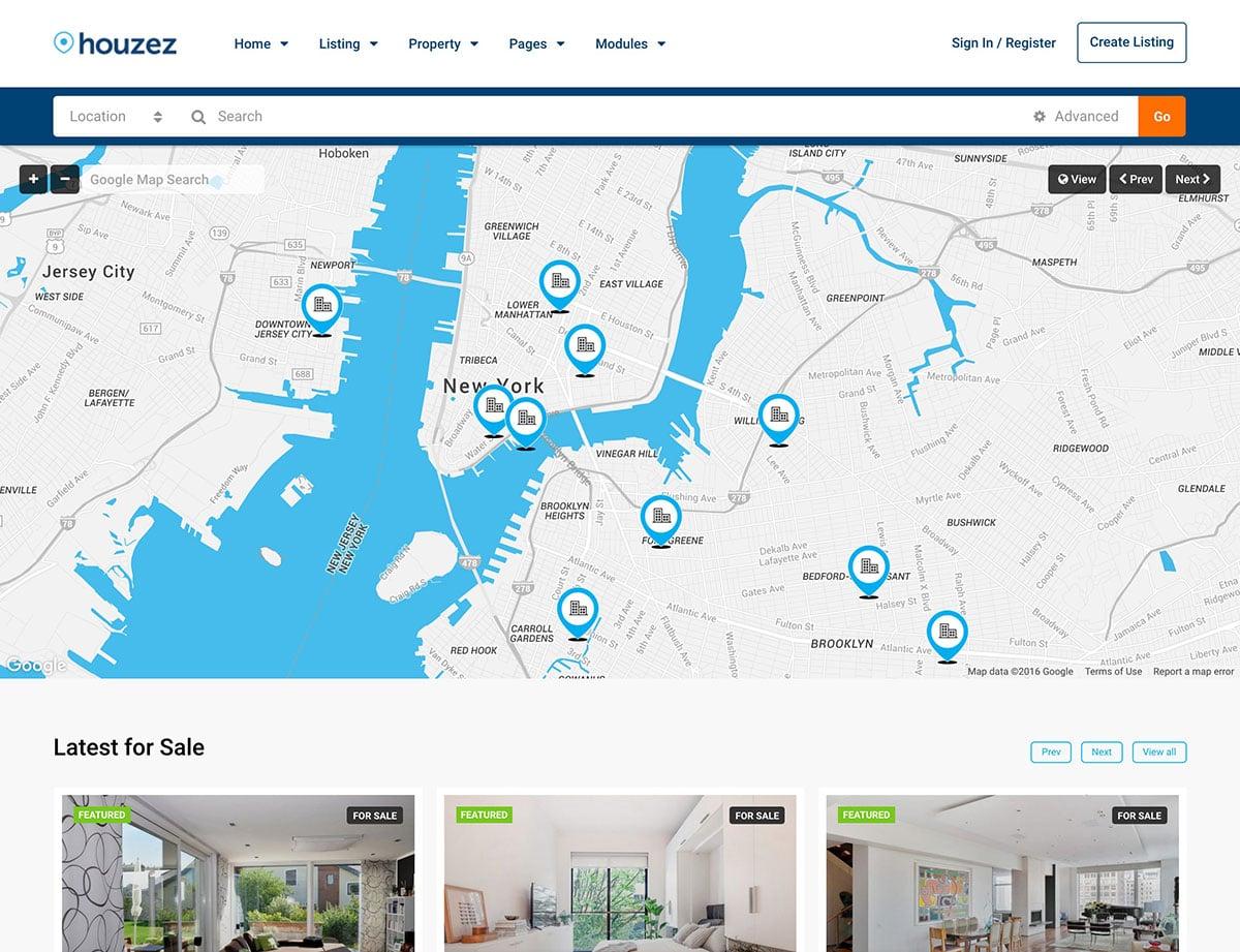 Houzez - 36+ Best WordPress Real Estate Themes [year]