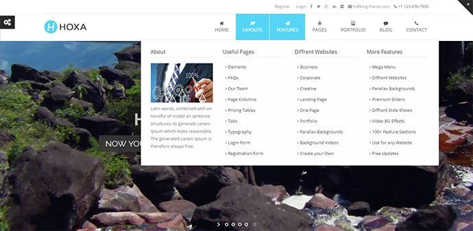 Hoxa - 30+ Awesome Mega Menu Navigation WordPress Theme [year]
