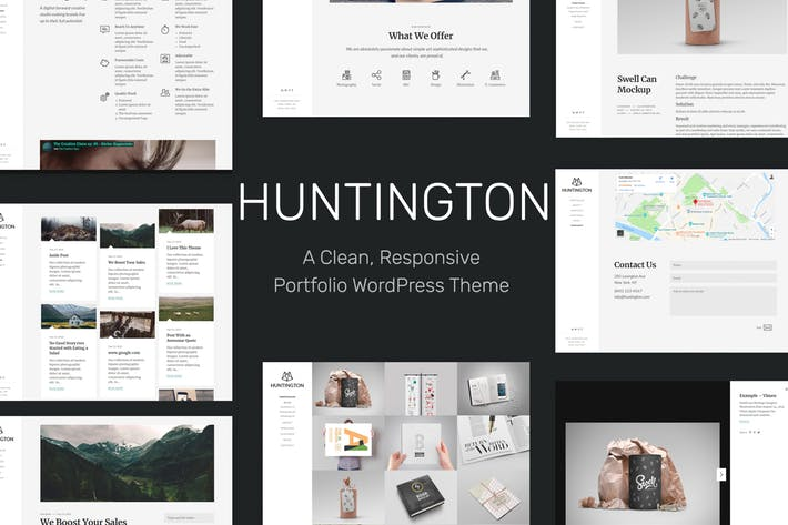 Huntington - 50+ Best Portfolio WordPress Theme Design [year]