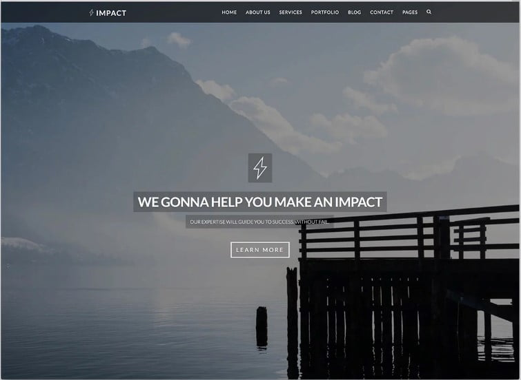 Impact - 77+ Best Free HTML & CSS Clean Simple Website Templates [year]