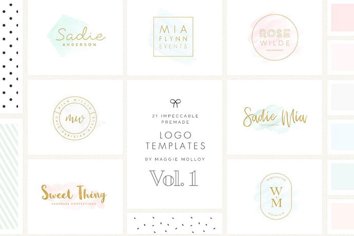Impeccable - 35+ Lovely Watercolor Logo Designs [year]