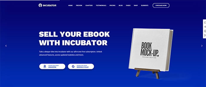 Incubator - 30+ BEST Blue WordPress Themes [year]
