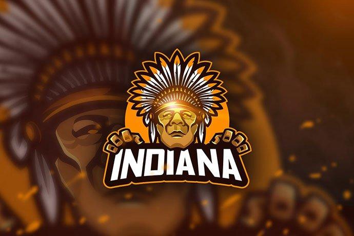 Indiana - 60+ Personal & Team Branding AI & EPS eSports Logo Templates [year]