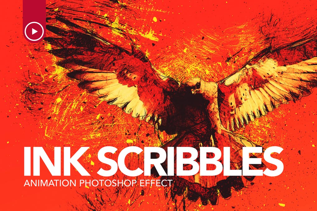 Ink-Scribbles - 35+ Awesome Animated GIF Photoshop Actions [year]