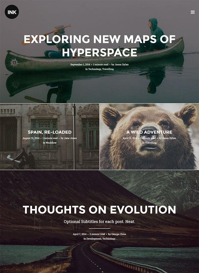Ink - 45+ Magazine & Blog WordPress Themes To Make Your Website [year]