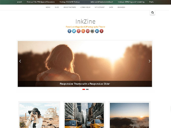 Inkzine - 61+ Free Creating Responsive WordPress Themes [year]