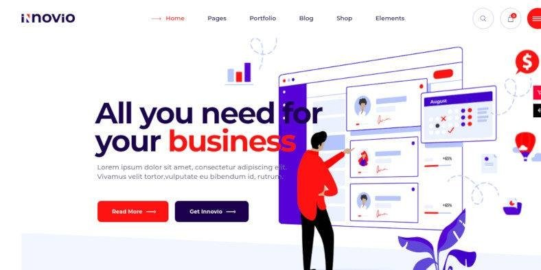 Innovio - 37+ Amazing Best WordPress Landing Page Themes [year]