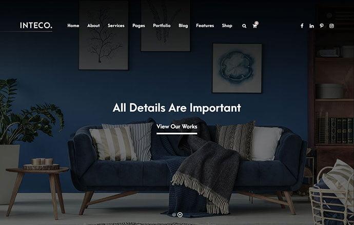 Inteco - 36+ Amazing WordPress Themes For Architect Portfolio [year]
