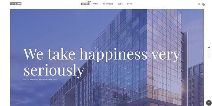 Interio - 36+ Amazing WordPress Themes For Architect Portfolio [year]