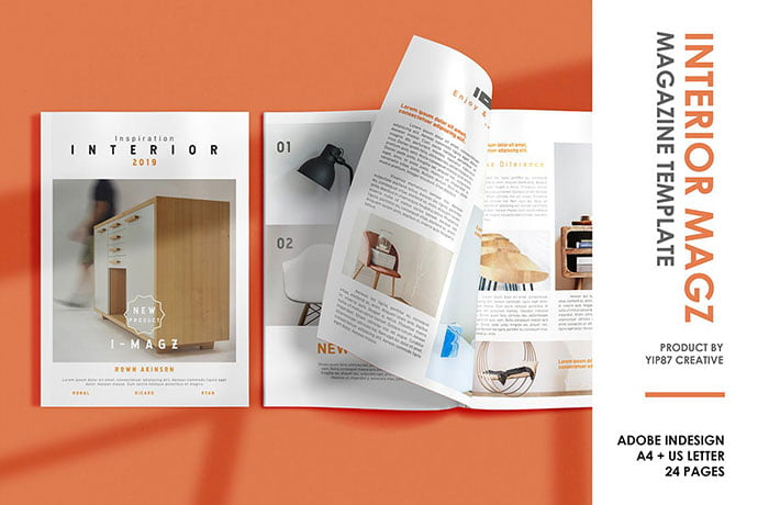 Interior-Magazine - 50+ Awesome Interior Magazine InDesign Templates [year]