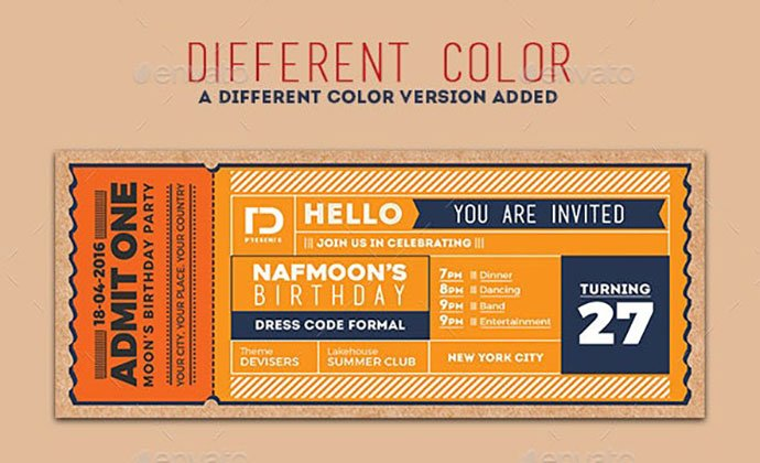 Invitation-Ticket-1 - 30+ Awesome Wedding Invitation Ticket Templates [year]