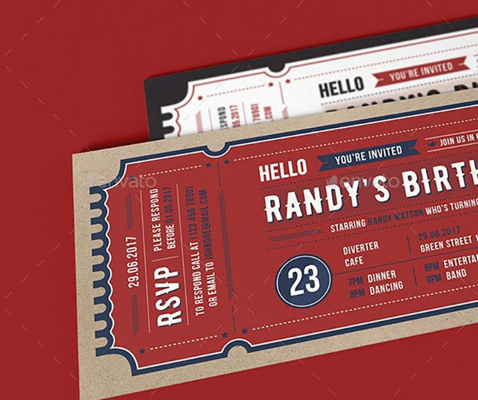 Invitation-Ticket - 30+ Awesome Wedding Invitation Ticket Templates [year]