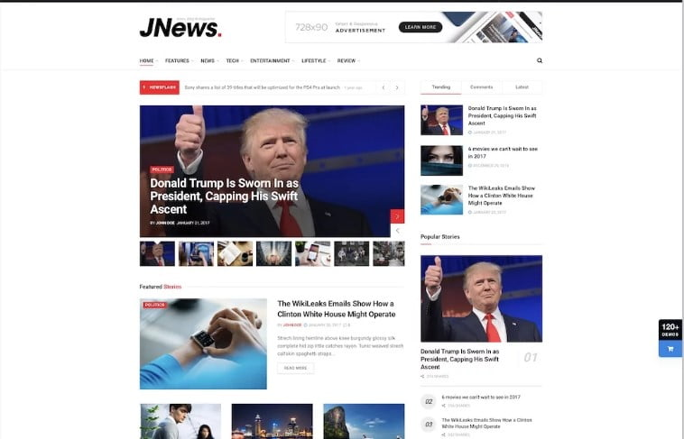 JNews-1 - 34+ Awesome Mobile First Free & Premium AMP Themes [year]