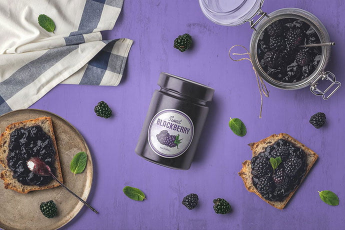 Jam-Jar - 60+ Delicious Food Packaging PSD Mockup Design Templates [year]