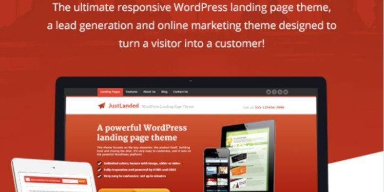 JustLanded - 37+ Amazing Best WordPress Landing Page Themes [year]