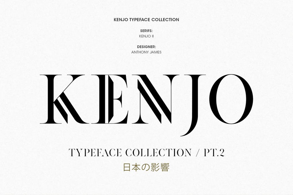 KENJO-FONTS-PT.-II - 51+ All Caps Fonts For Your Unique Personality Headline Website [year]