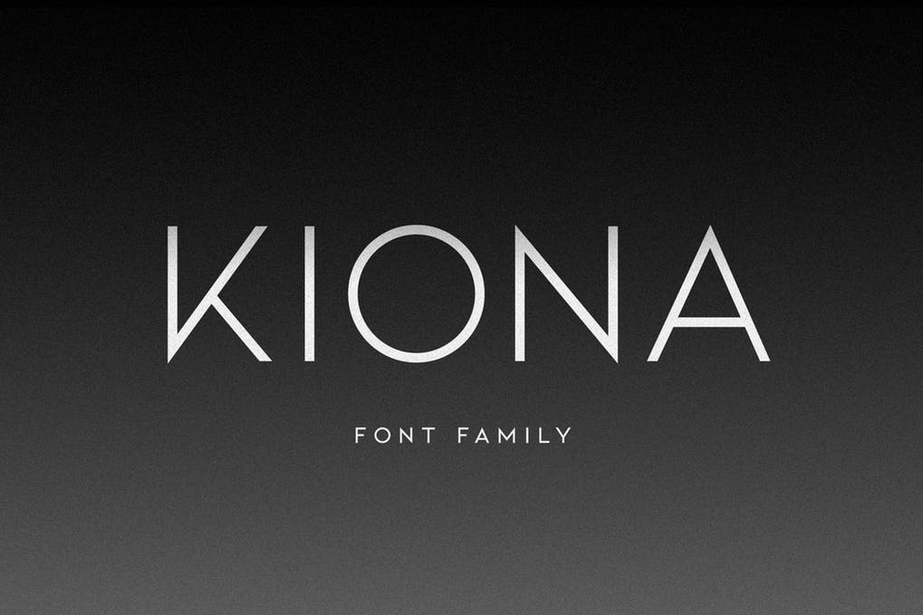 KIONA - 51+ All Caps Fonts For Your Unique Personality Headline Website [year]