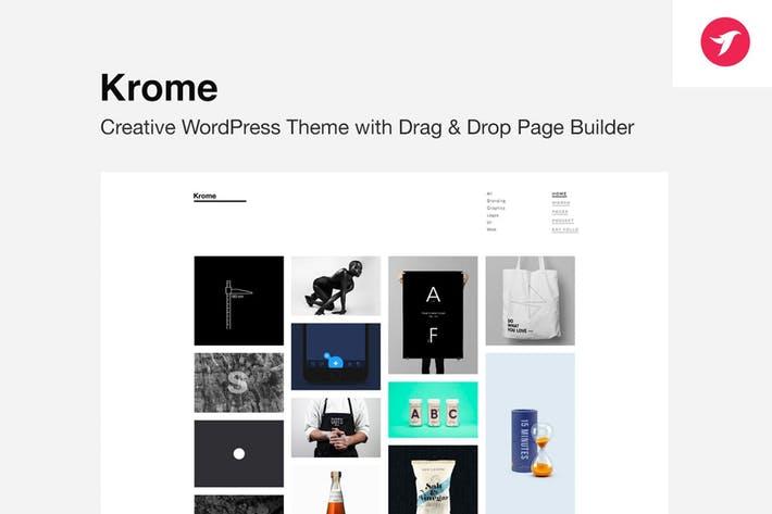 KROME - 50+ Best Portfolio WordPress Theme Design [year]