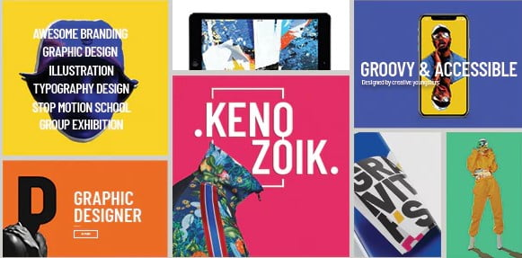 Kenozoik - 30+ Awesome Showcasing Illustrations WordPress Themes [year]