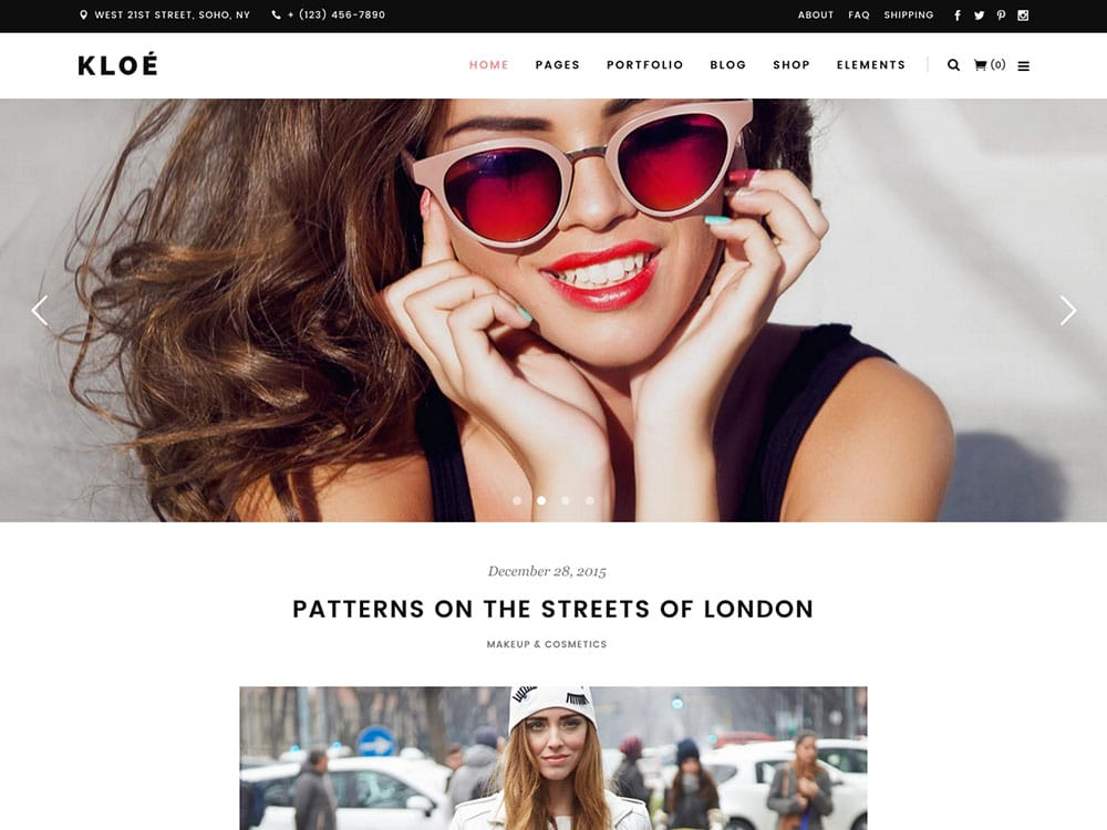Kloe - 25+ Awesome WordPress Themes For Feminine [year]