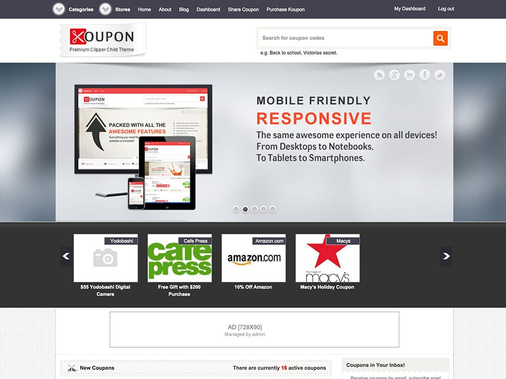 Koupon - 26+ Amazing WordPress Coupon Themes and Plugins [year]
