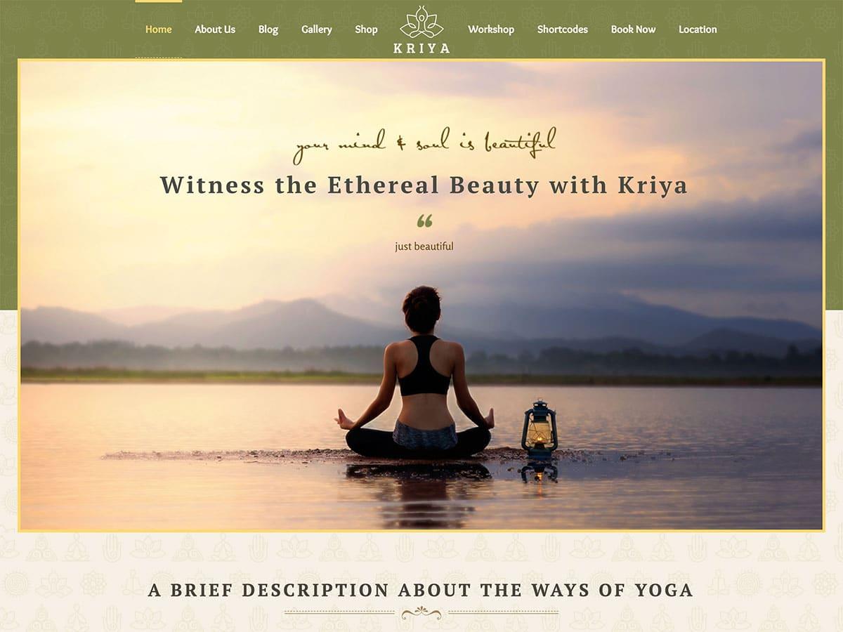 Kriya-Yoga - 32+ Best WordPress Themes For Yoga [year]