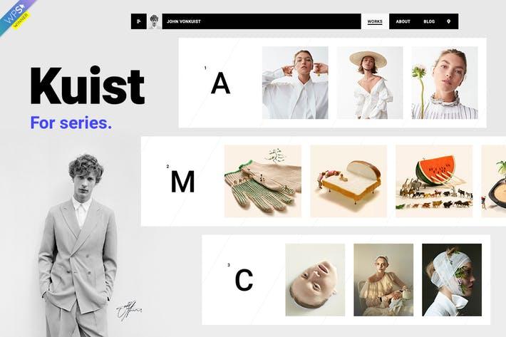 Kuist - 50+ Best Portfolio WordPress Theme Design [year]