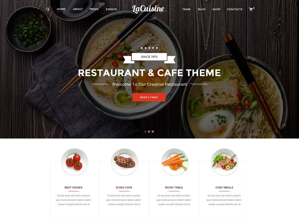 LaCuisine - 51+ Best Restaurant WordPress Themes [year]