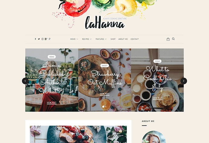Lahanna - 36+ Delicious Cooking Idea Share WordPress Themes [year]