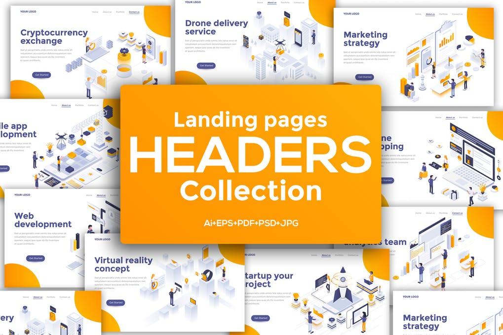 Landing-page - 31+ Amazing Hero Image PSD Illustration Templates [year]