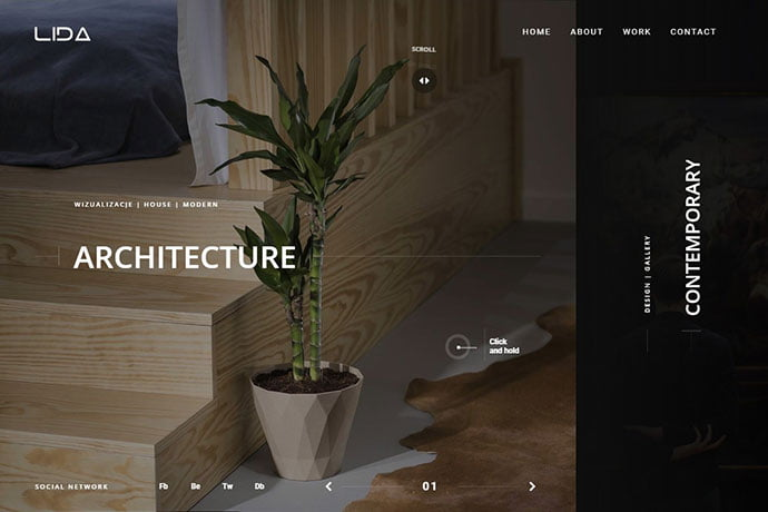 Lida - 35+ Awesome Twitter Bootstrap Portfolio Site Templates