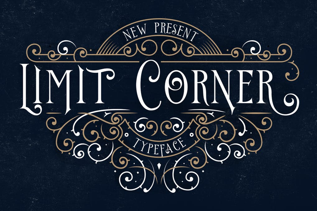 Limit-Corner-Typeface - 51+ All Caps Fonts For Your Unique Personality Headline Website [year]