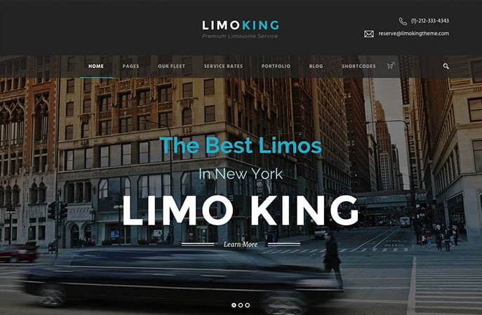 Limo-King - 36+ Top WordPress Vehicle & Transportation Themes [year]