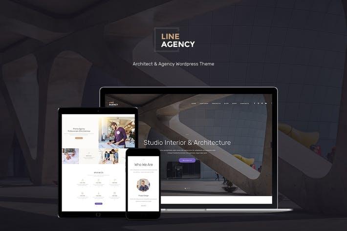 Line-Agency - 50+ Best Portfolio WordPress Theme Design [year]
