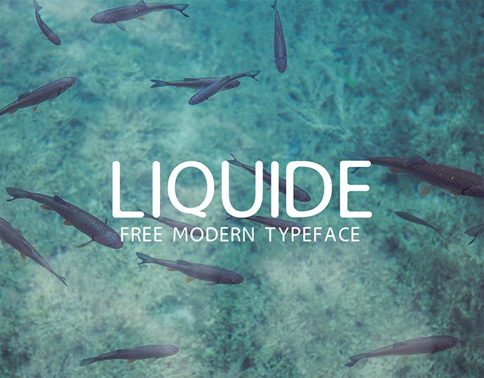 Liquide - 35+ Fantastic Science Fiction & Fantasy Fonts For You [year]