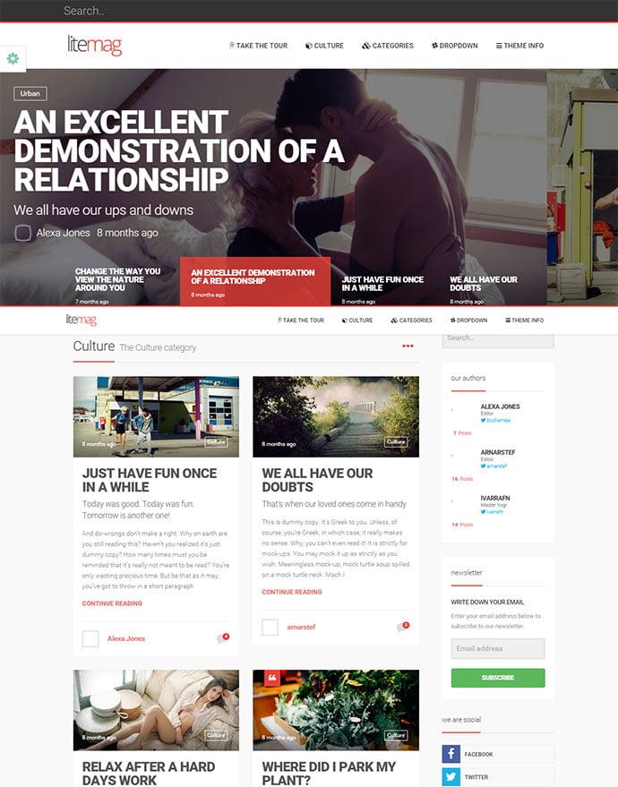 LiteMag - 45+ Magazine & Blog WordPress Themes To Make Your Website [year]