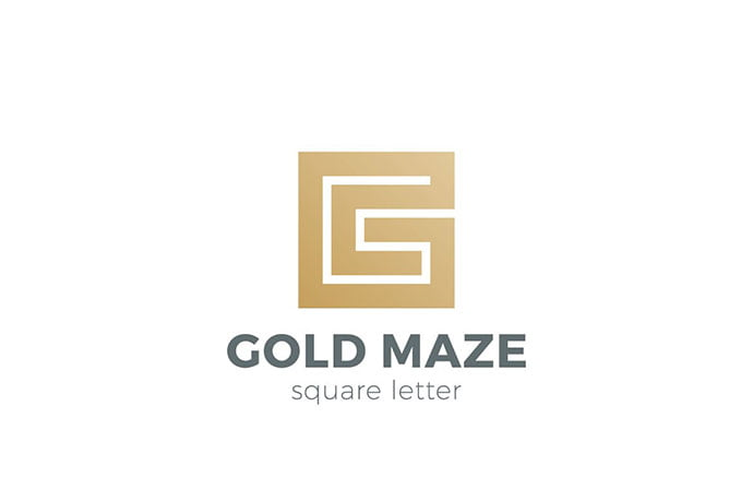 Logo-Labyrinth-Maze-as-Letter-G - 50+ BEST Single Letter Business Logo Template [year]