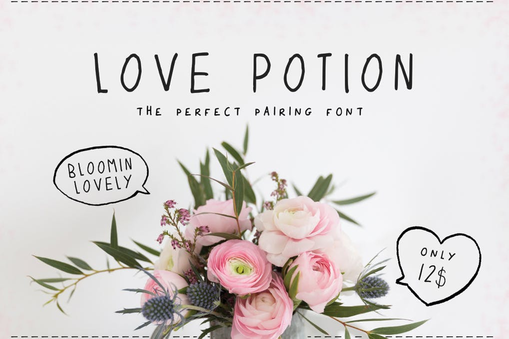 Love-Potion-Font - 51+ All Caps Fonts For Your Unique Personality Headline Website [year]